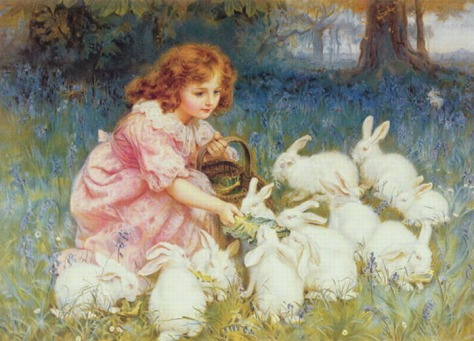 frederick-morgan-feeding-the-rabbits
